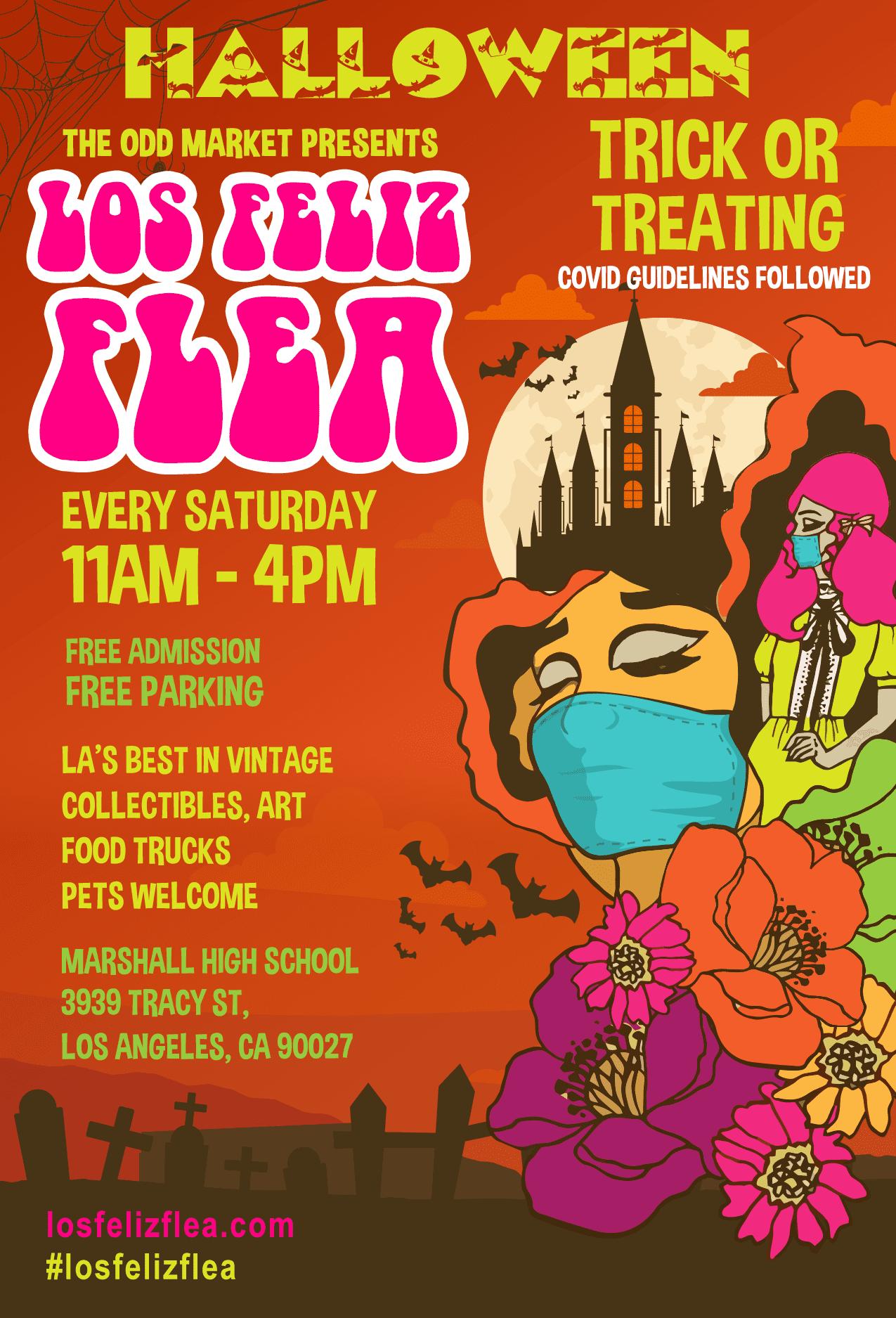 A COVID-19 Halloween at Los Feliz Flea
