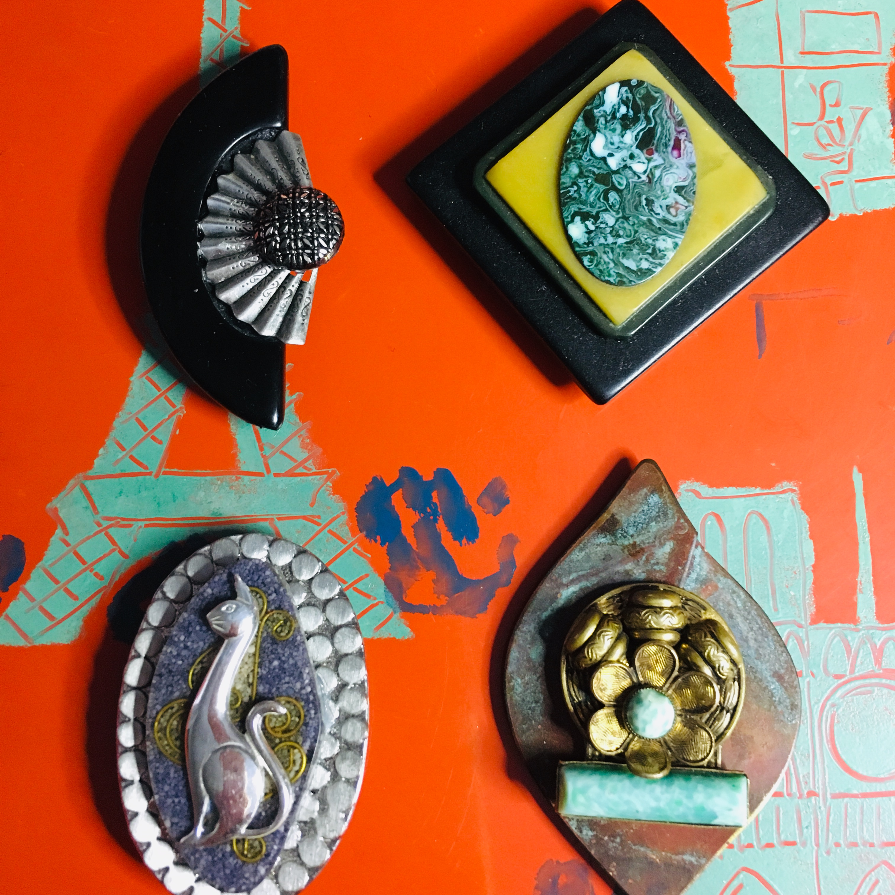 Brooches and Bracelets by Miriam